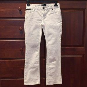 Ralph Lauren girls size 8 white jeans